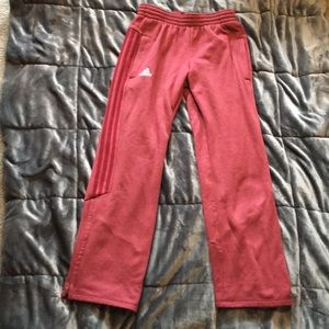 Red adidas climawarm sweatpants size small